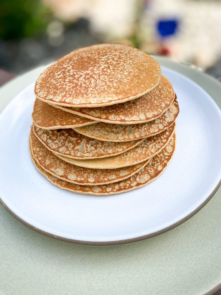 Oat and buckwheat pancakes