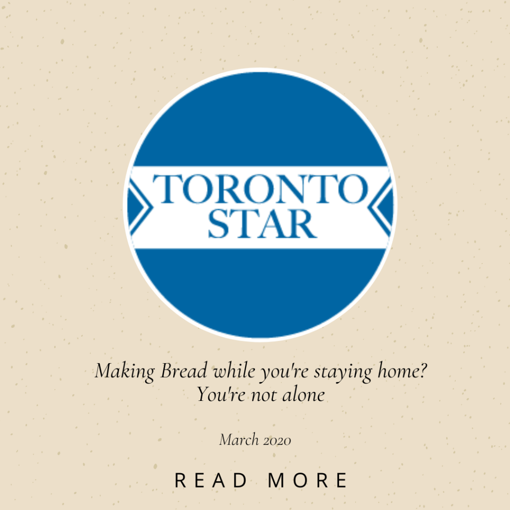 Toronto Life - Making Bread while you're at home?
